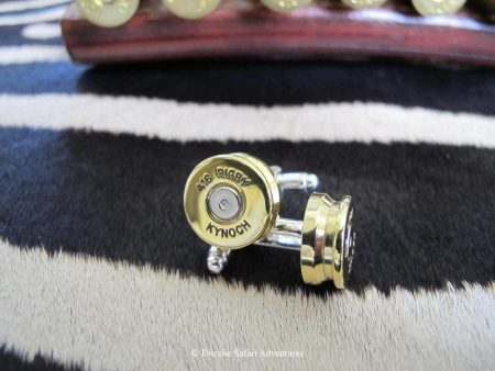 .416 Rigby Cufflinks. These are made for us by Kynoch in England through a cufflink manufacturer using Kynoch ammunition brass. Actual cufflinks may vary slightly from image sample. .416 Rigby Kynoch Cufflinks kynoch cufflinks and native american jewelry kynoch ammunition cufflinks southwestern jewelry
