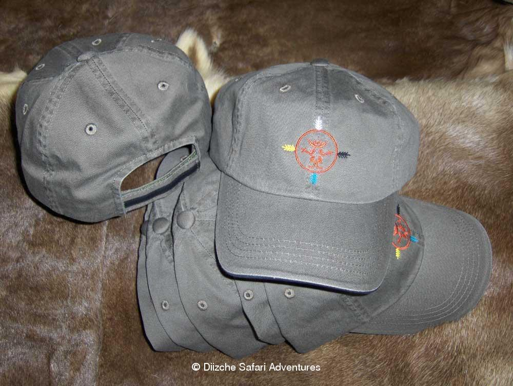 Diizche Safari Adventures Logo Caps Diizche Safari Caps logo hunting cap Diizche Safari hunting cap