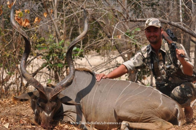 <font color=orange>East African Greater Kudu</font> East African Greater Kudu  Trophy hunting photos african plains game  hunting pictures plains game
