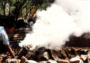 <font color=orange>Larry Pit Firing Pottery</font> Firing Pottery - About Diizche Safari Adventures Shawn Joyce