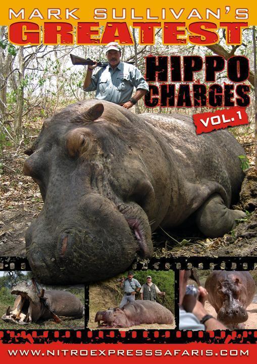 Greatest Hippo Charges Greatest Hippo Charges  DVD Mark Sullivan's Greatest Hippo Charges-Vol 1  Mark Sullivan DVDs, Nitro Express Safaris