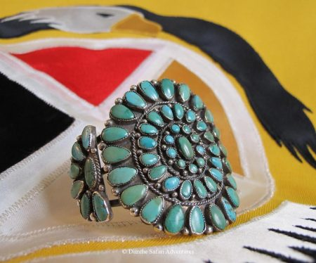 Navajo-Bracelet – Artist Unknown Navajo Turquoise Cluster Bracelet kynoch cufflinks and native american jewelry kynoch ammunition cufflinks southwestern jewelry