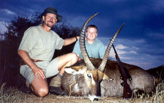 <font color=orange>Waterbuck</font> Waterbuck  Trophy hunting photos african plains game  hunting pictures plains game